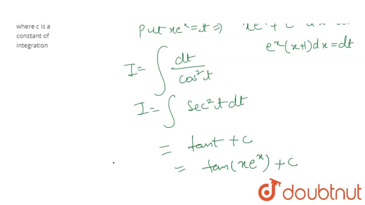 Solution for What is int (e^(x) (1 + x)),(cos^(2) (xe^(x))) dx