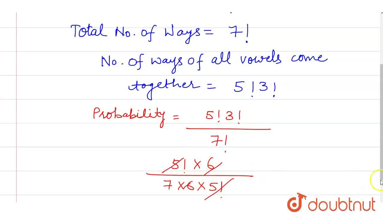 """What is the probability of formating word from the letters of word""""TUESDAY"""" such  that all vowels come together ?"""