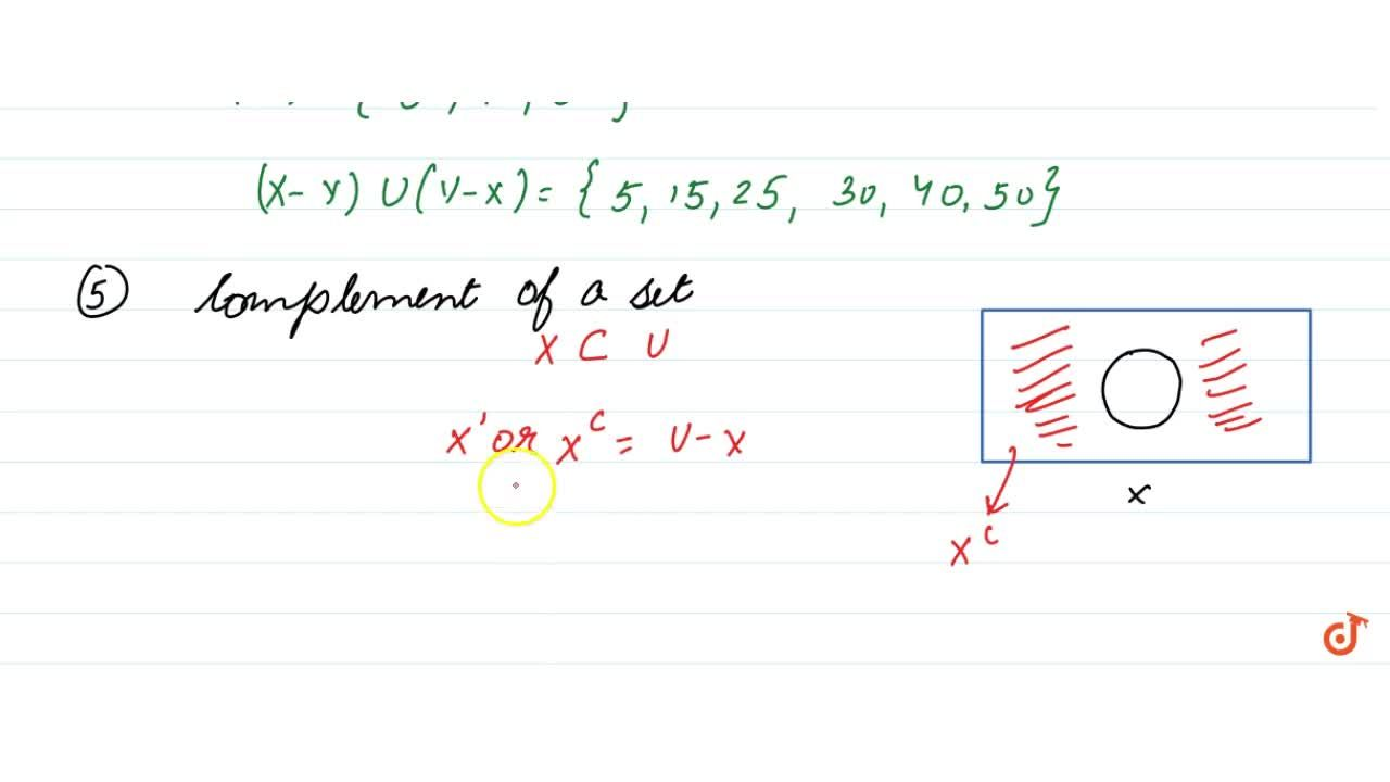 Solution for Some Questions based on the operation of sets ....