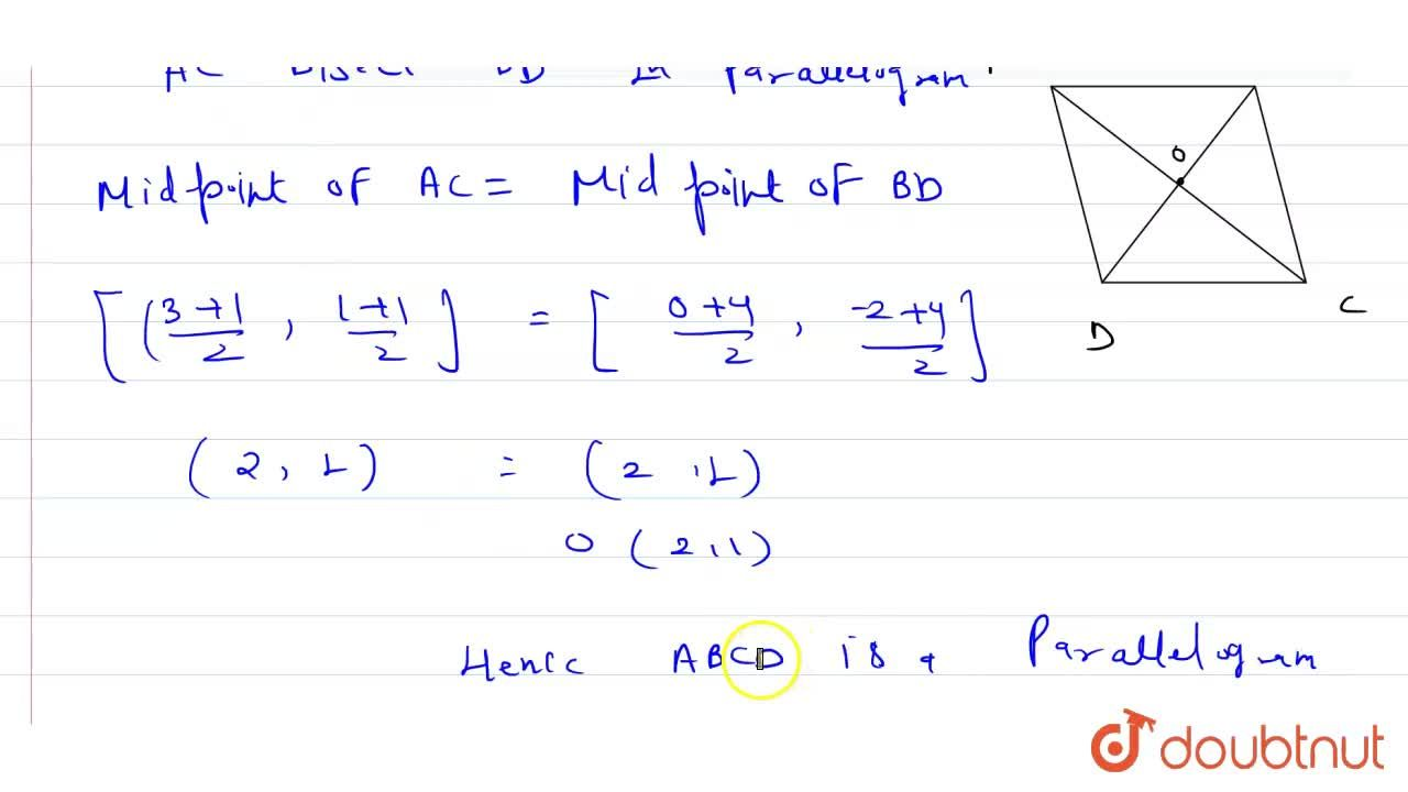 Solution for Show that the points A(3, 1), B(0, -2), C(1, 1) an