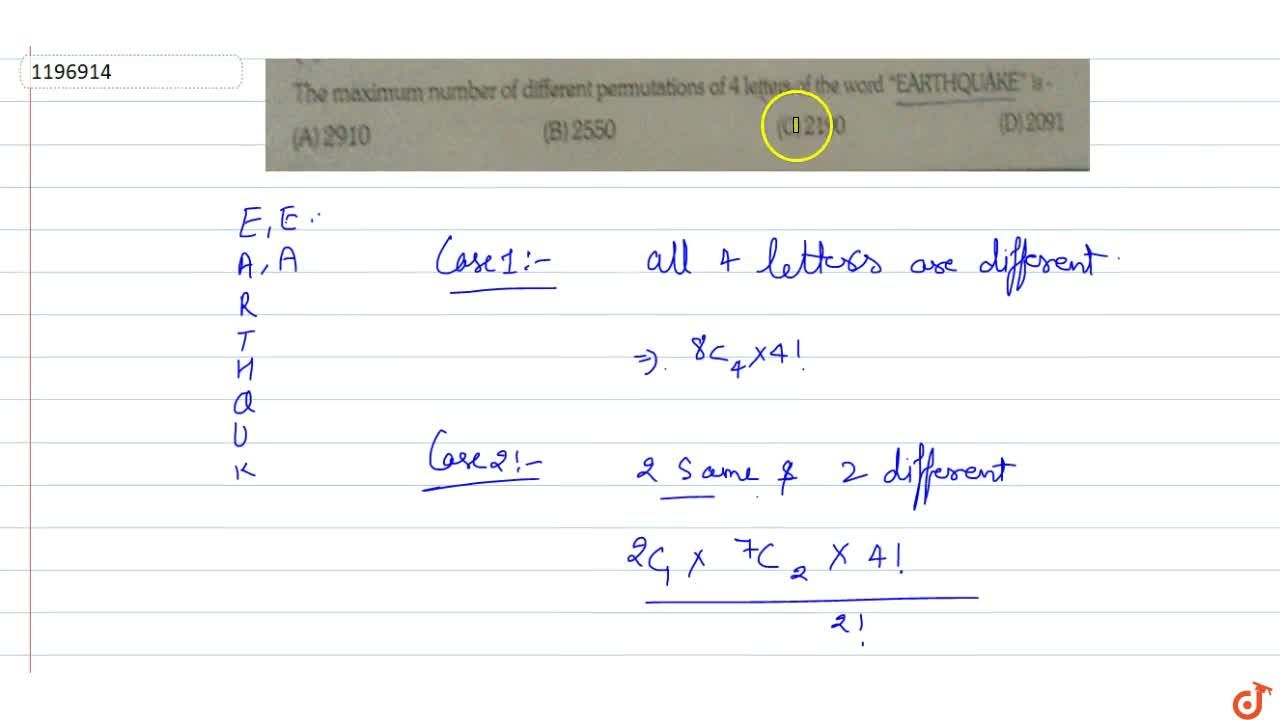 Solution for The maximum number of different permutations of 4