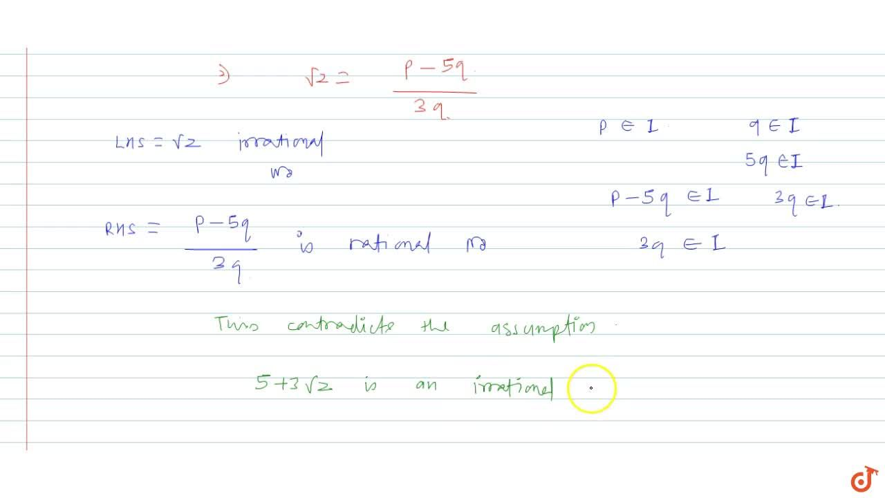 Solution for Given that sqrt(2) is a irrational prove that (