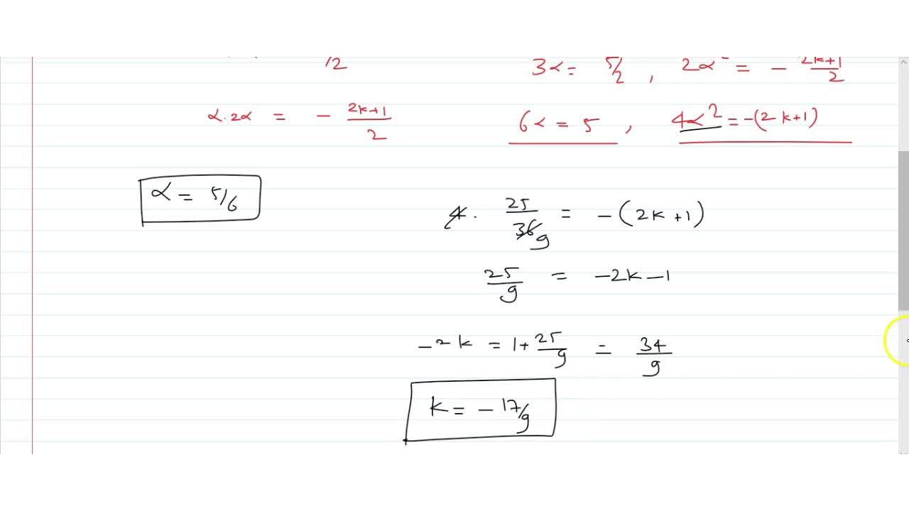 If one zero of the polynomial 2x^2-5x -(2k + 1) is twice the other, then find both the zeroes of the polynomial and the value of k