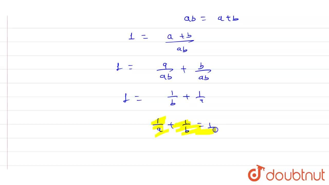 Solution for Prove that the points A(a, 0), B(0, b) and C(1, 1)