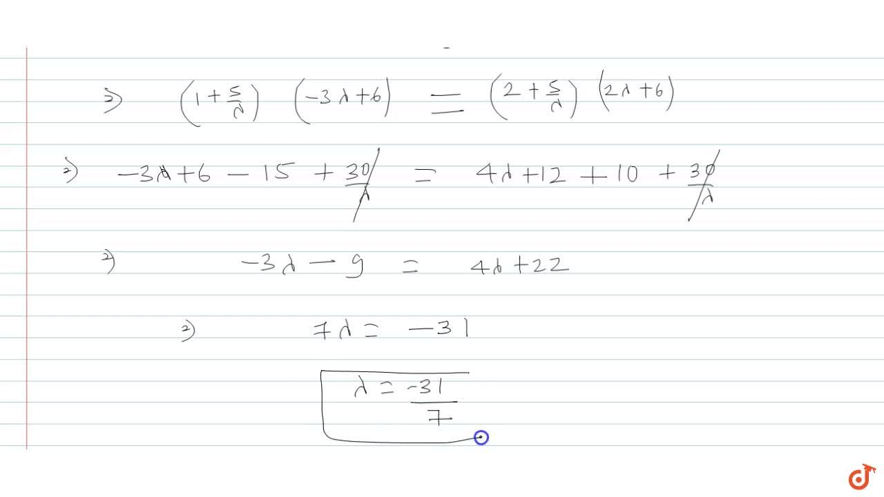 The lines (x-1),2=y,- 1=z,2 and x-y+z-2=0=lambdax+3z+5 are coplanar for lambda