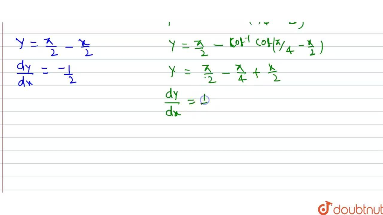Solution for Differentiate each of the following w.r.t. x: <br>