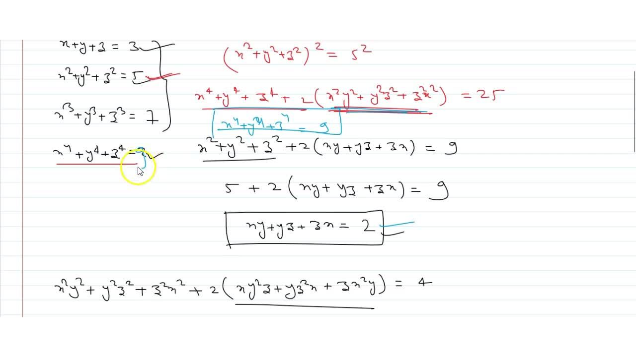 Solution for  Let x, y, z be real numbers satisfying x+y+z=3
