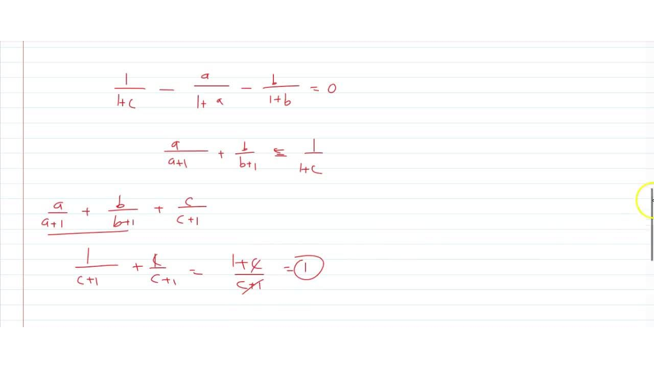 If the system of equation x= a(y +z),y =b(z +x),z =c (x + y), (a,b,c !=-1) has a non-zero solution then the value of a,(a+1)+b,(b+1)+c,(c+1) is