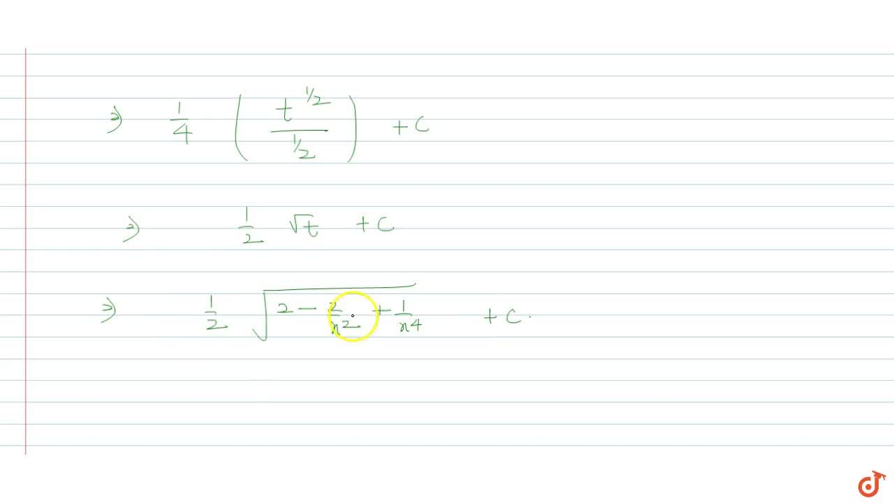 Solution for int (x^2 -1 ), (x^3 sqrt(2x^4 - 2x^2 +1))dx is e