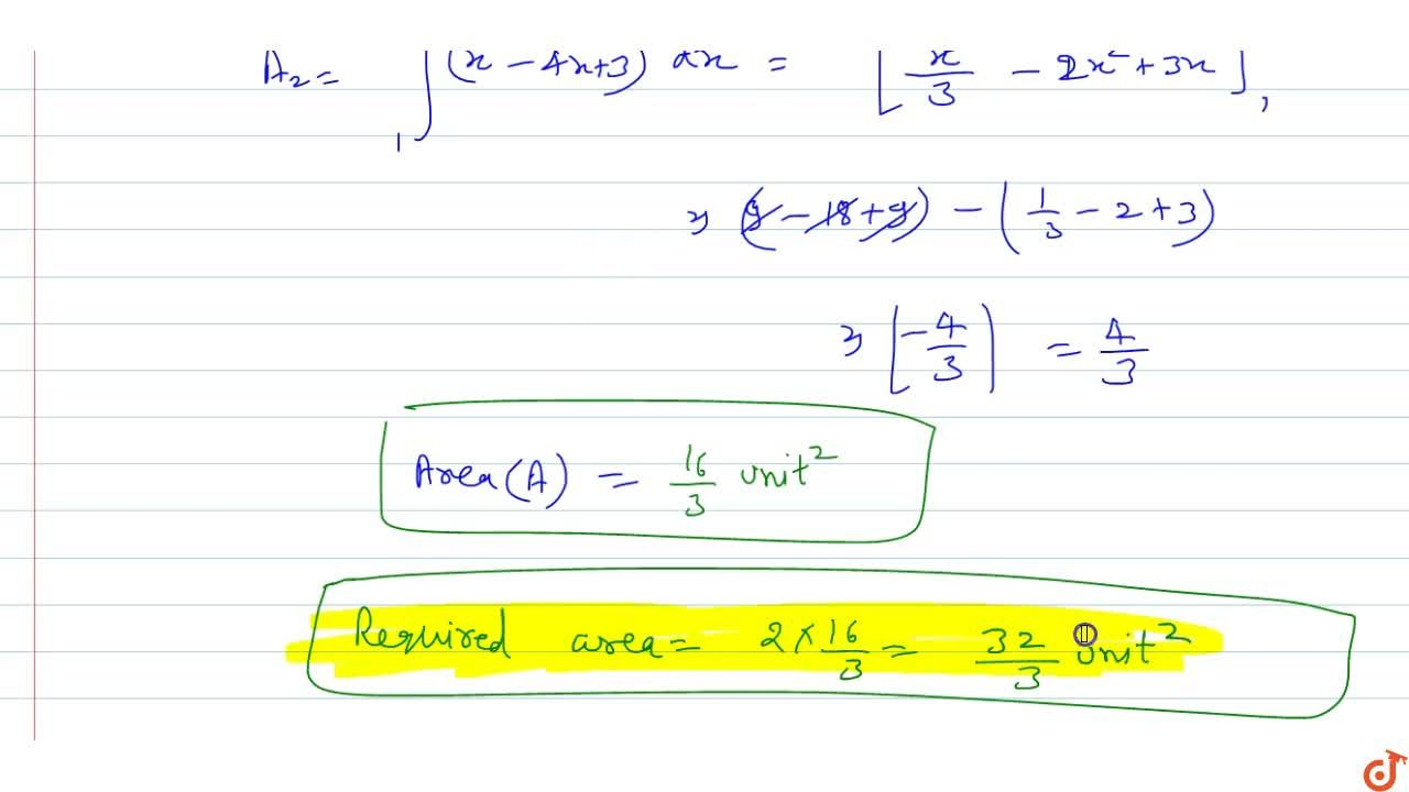 Solution for Area bounded by the curve  |y|=||x|^2-4|x|+3| be
