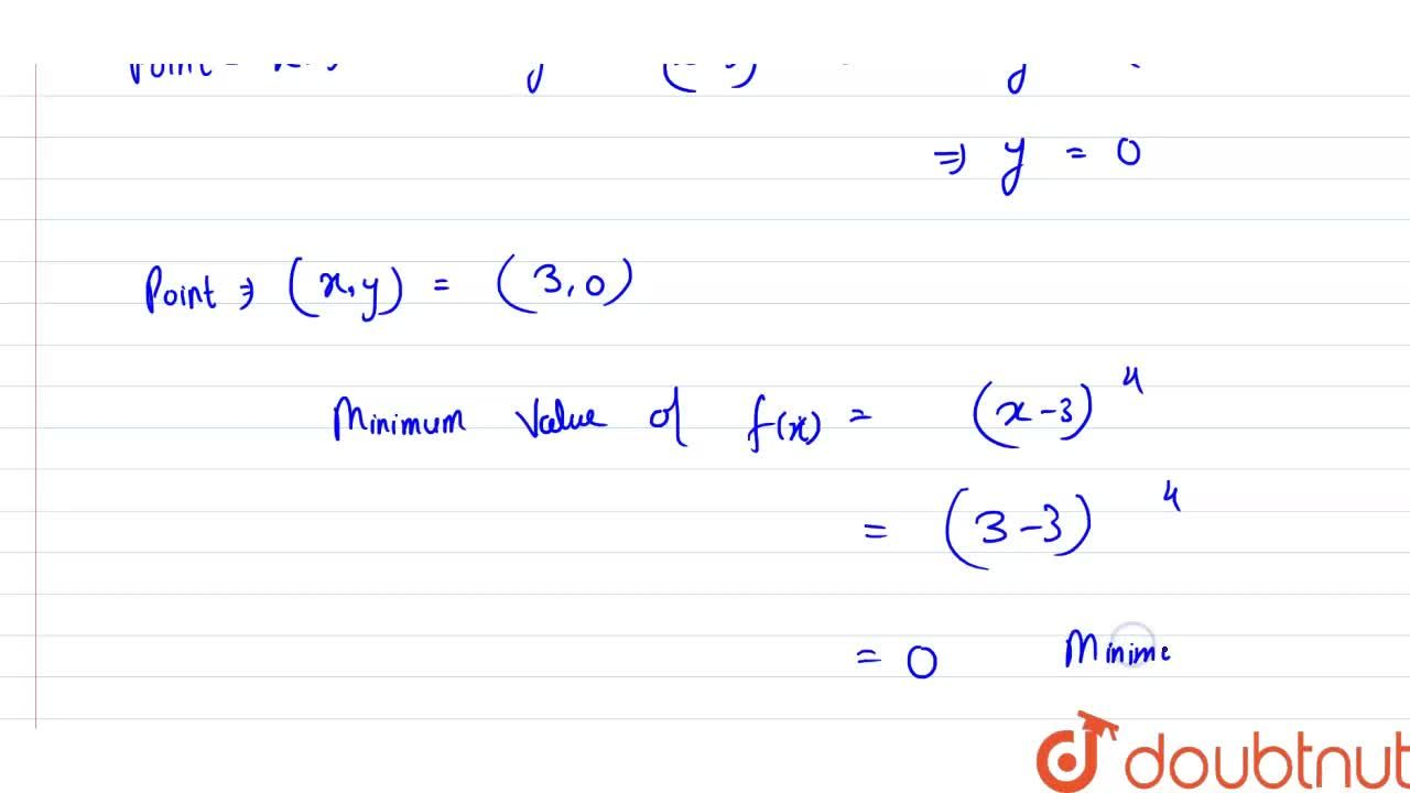 Find the points of local maxima or local minima and the corresponding local maximum and minimum values of each of the following functions: <br> f(x) = (x -3)^(4)