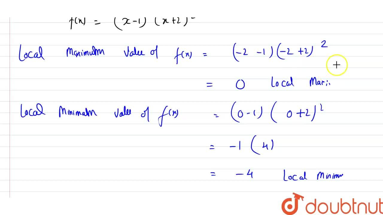 Solution for Find the points of local maxima or local minima an