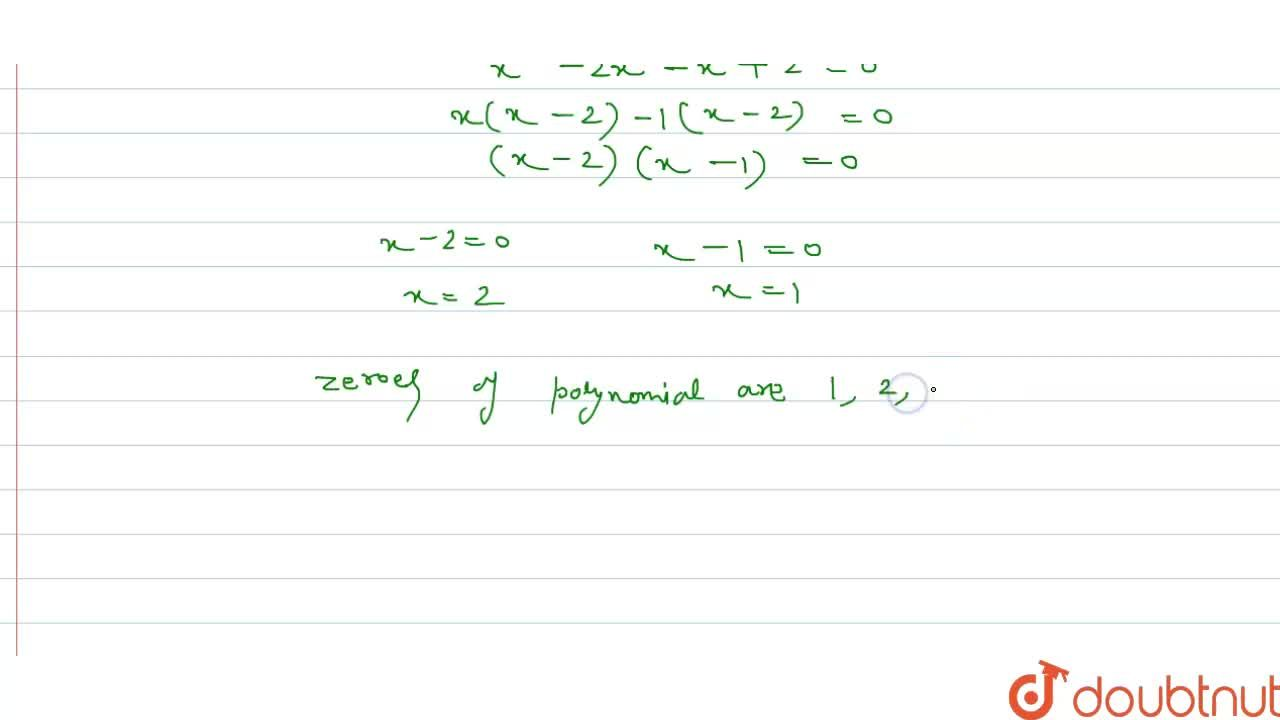 Solution for If one zero  of the polynomial p(x) = x^(3) - 6x^