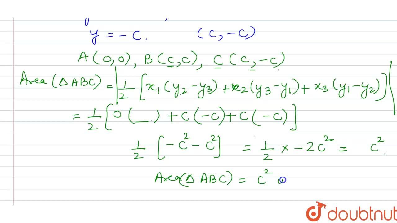 Solution for What is the area of the triangle formed by the lin