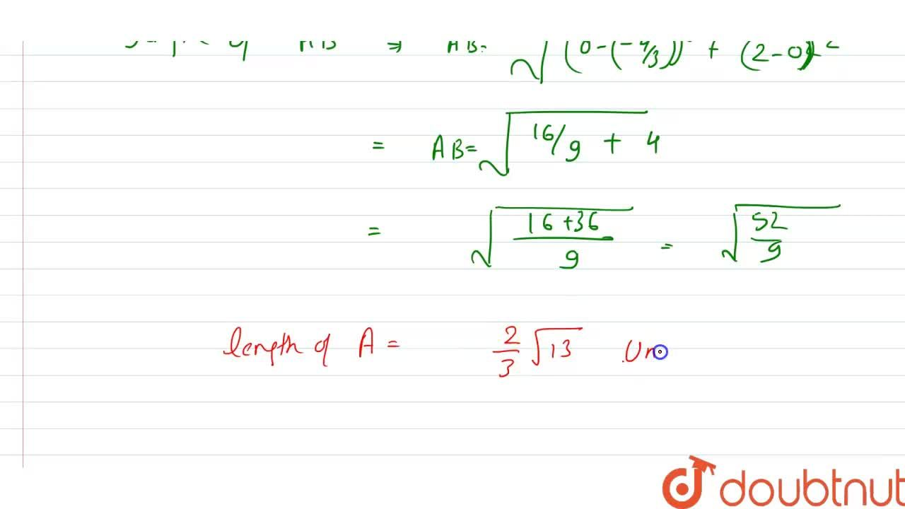 Reduce the equation 3x-2y+4=0 to intercepts form and find the length of the segment intercept the axes.