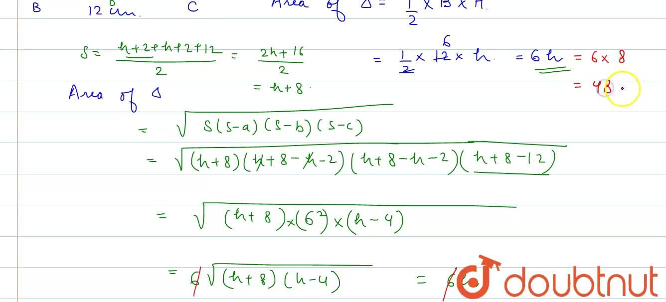 Solution for Each of the equal sides of an isosceles measures 2