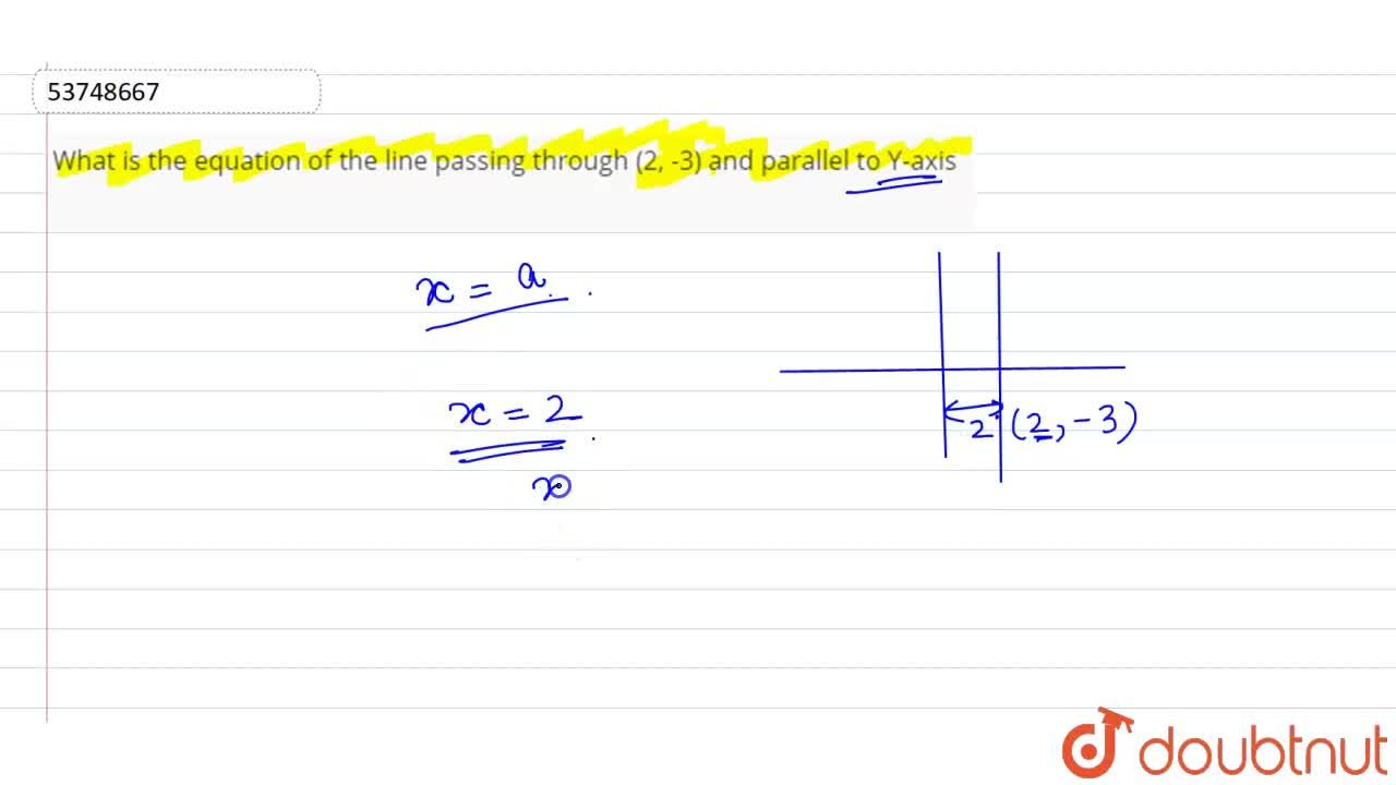 Solution for What is the equation of the line passing through (