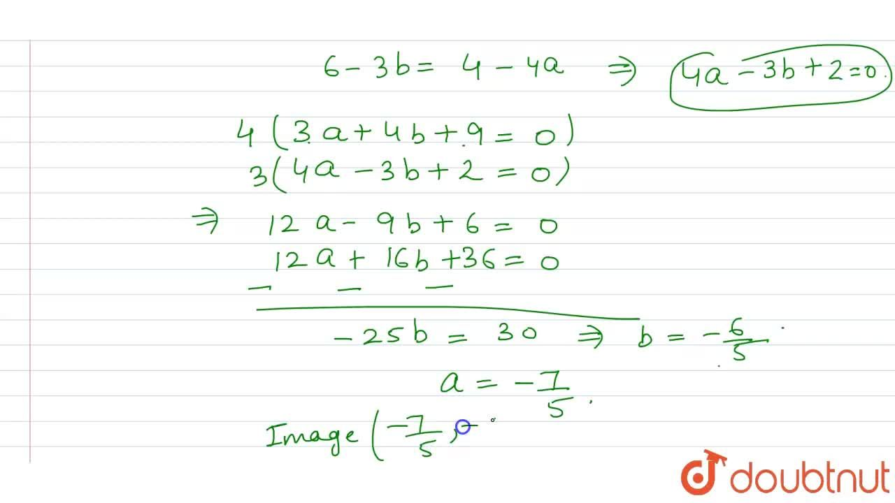 Solution for What is the image of the point (1, 2) on the line