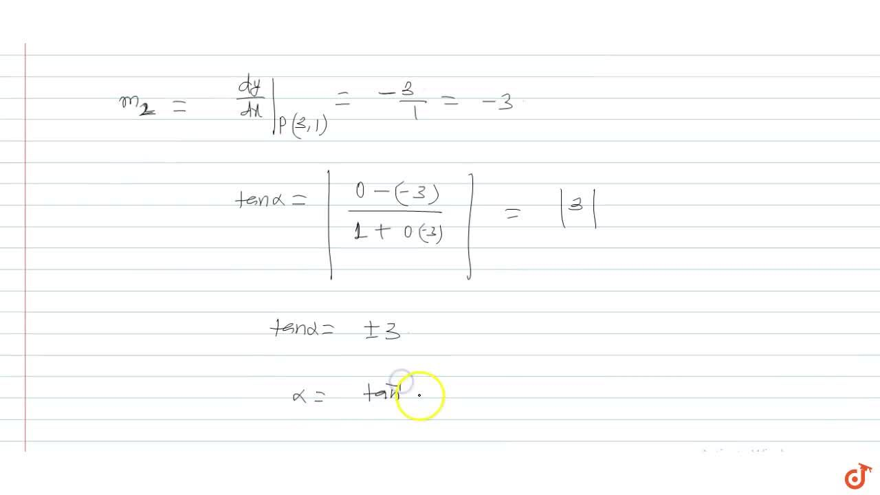 The angle of intersection between the curves y=[|sinx|+|cosx|] and x^2+y^2=10, where [x] denotes the greatest integer lex, is
