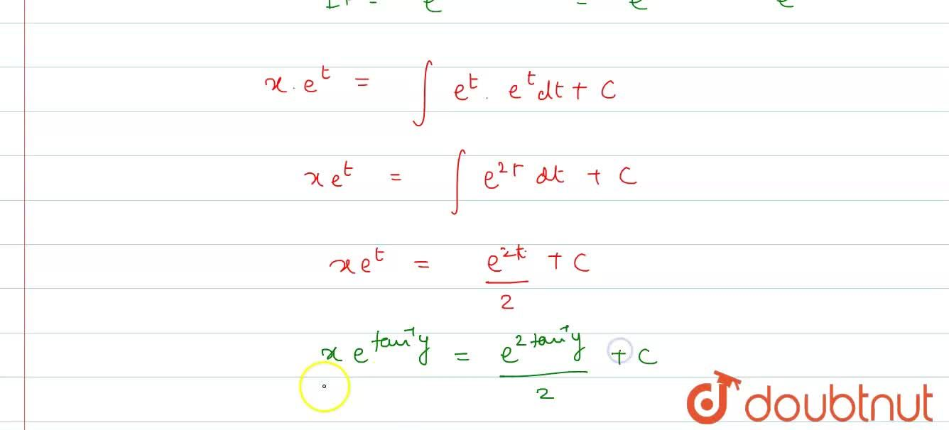 Solution for The solution of differential equation <br> (1+y^(