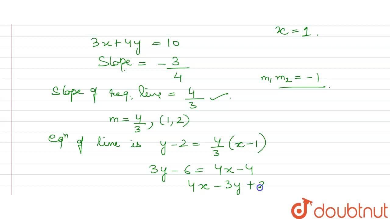 Solution for What is the equation of the straight line which pa