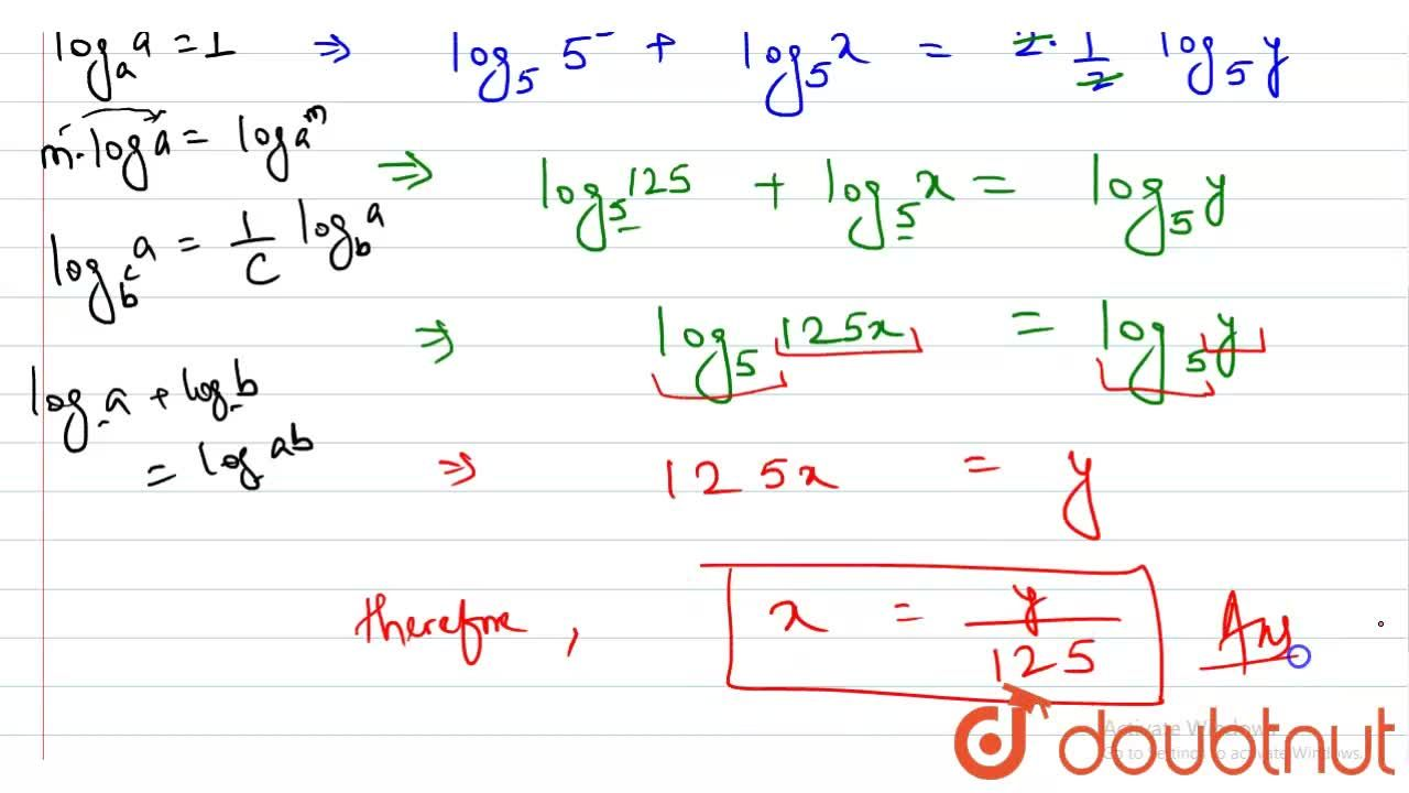 """If  3 +""""log""""_(5)x = 2""""log""""_(25) y, then x equals to"""