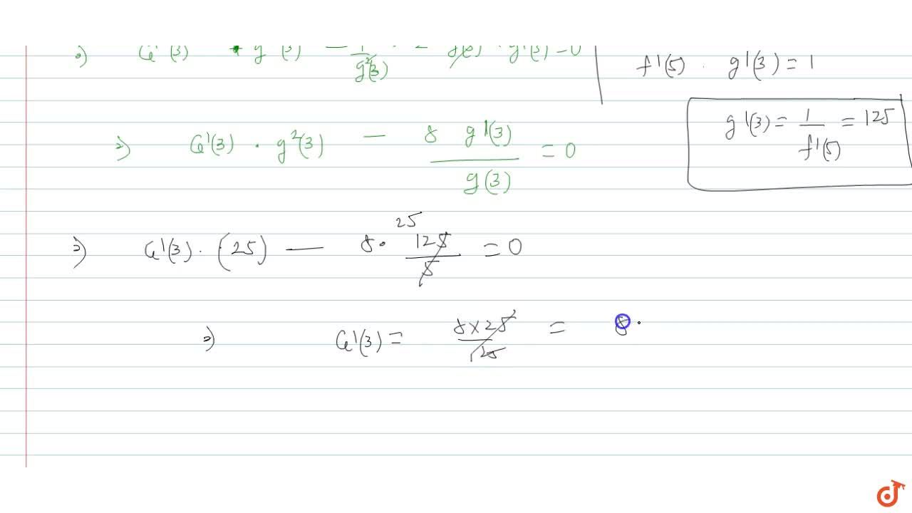 Solution for Suppose g is the inverse fiunction of a diffdiffer