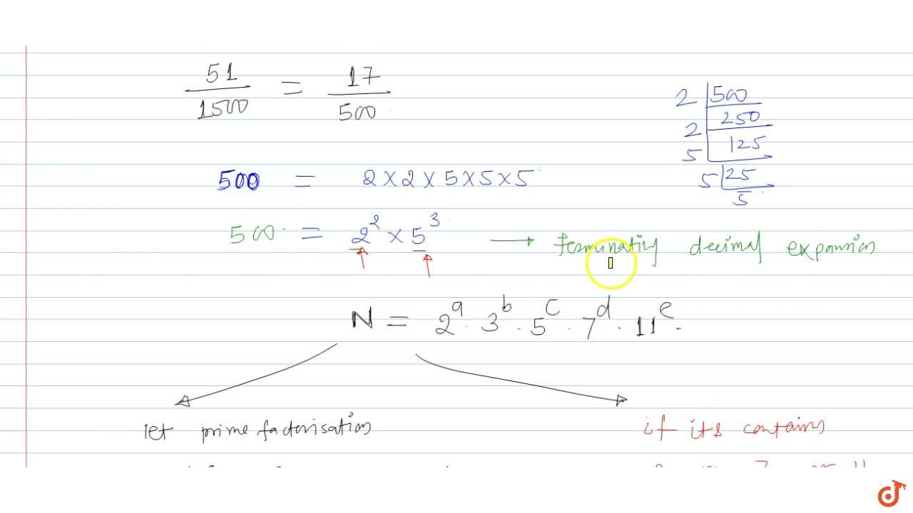 Solution for Write twhether the rational number 51,1500 will
