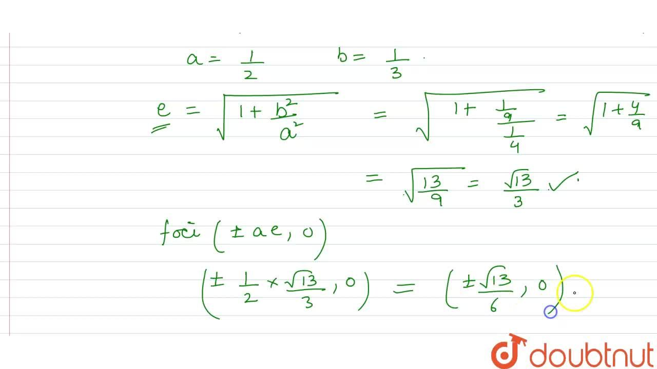 The foci of the hyperbola 4x^(2)-9y^(2)-1=0 are