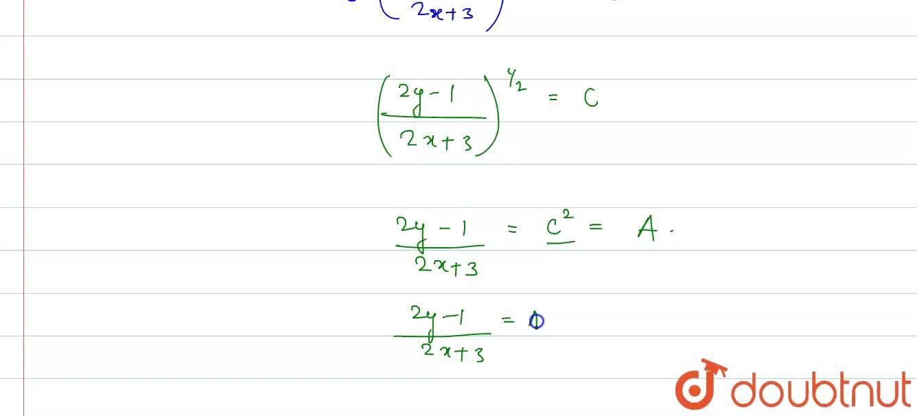 Solution for The solution of the differential equation <br> (2
