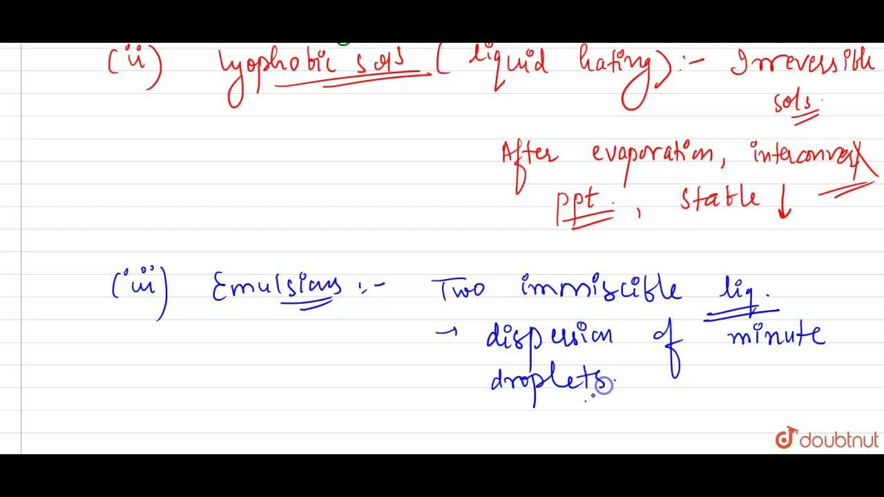 Solution for What are the characteristics of the following coll
