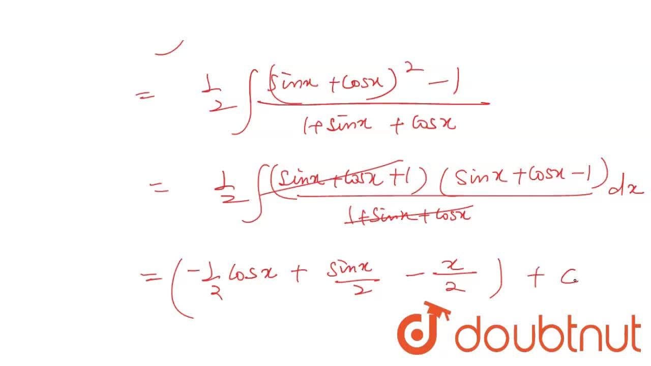 """Solution for int(1),(tanx+cotx+secx+""""cosec """"x)dx is equal to"""