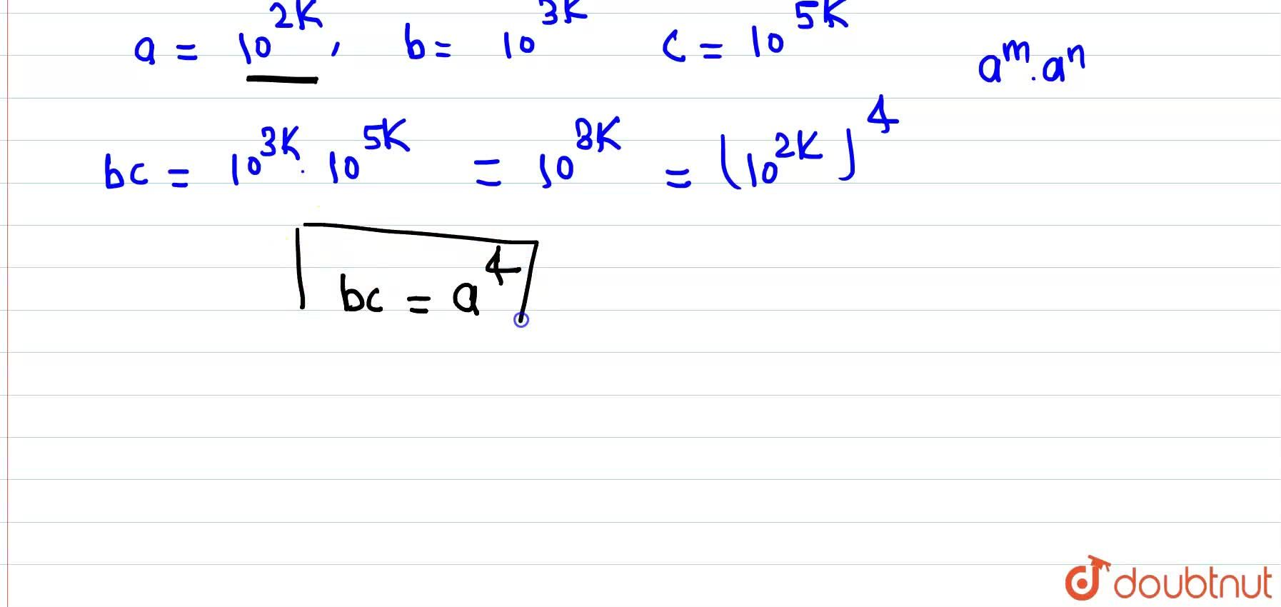 """Solution for """"If"""" (""""log""""_(10)a),(2) = (""""log""""_(10)b),(3) = (""""lo"""