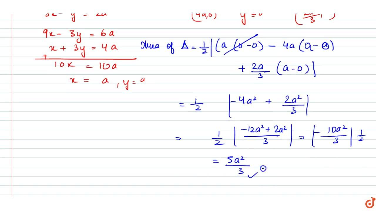 Solution for Find the area erea angle which made by the tangent