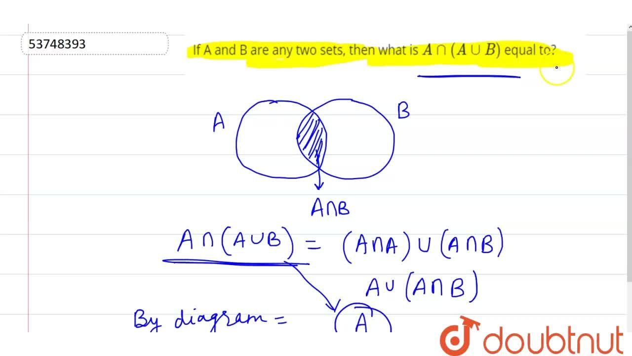 Solution for If A and B are any two sets, then what is Ann(Auu