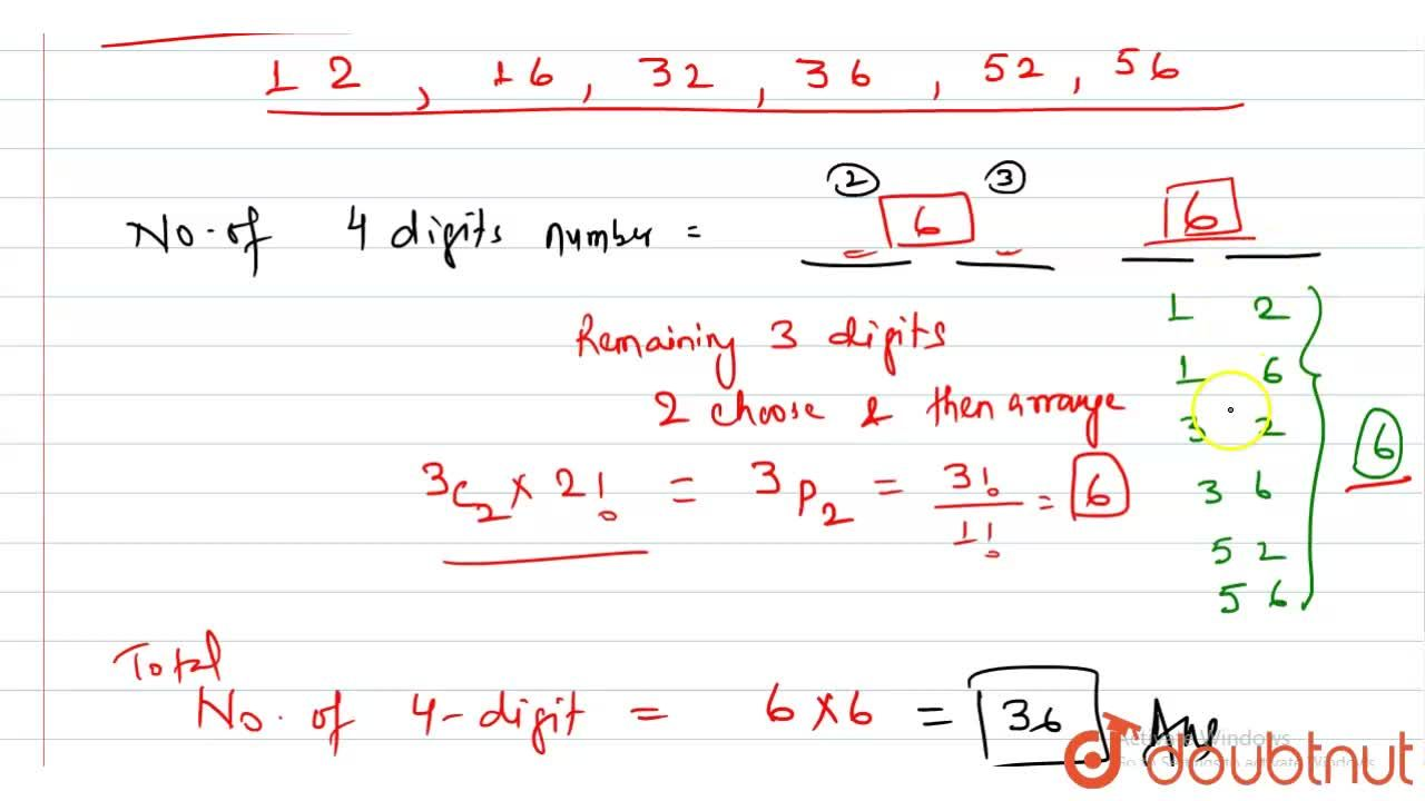Solution for The numbers of four different digits number that c