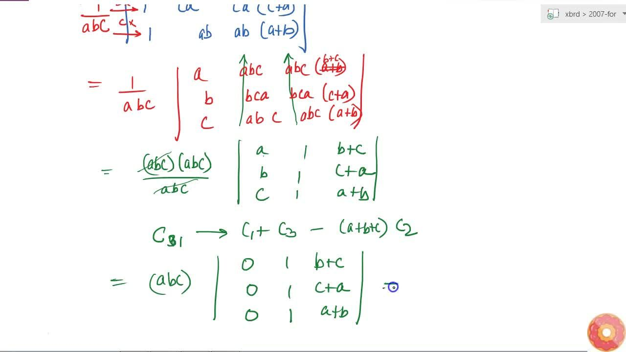 Solution for Using the properties of determinants, prove the fo