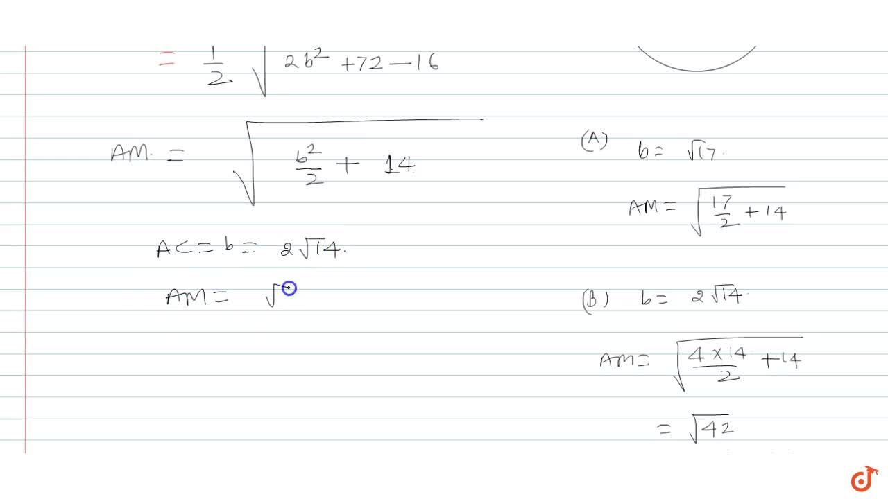 A triangle ABC is such that a circle passing through vertex C, centroid G touches sides AB at B. If AB=6, BC=4 then the length of median through A