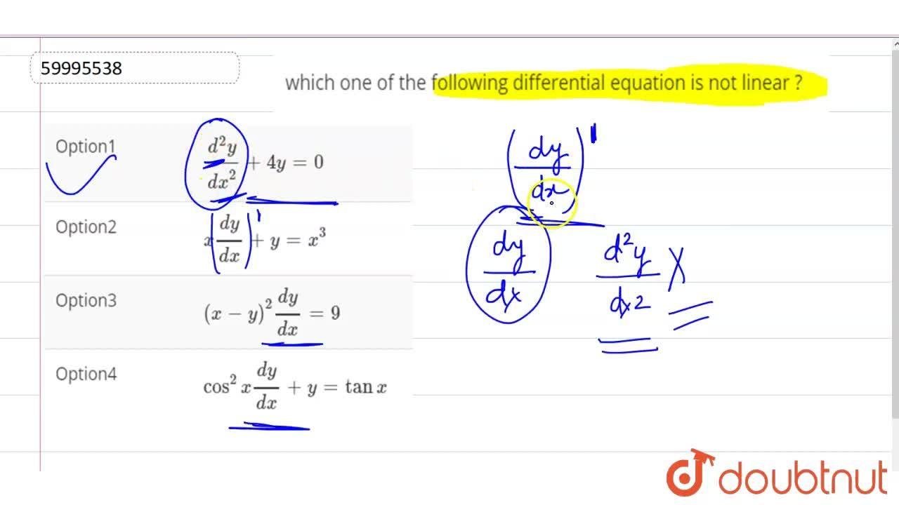 Solution for which one of the following differential equation i