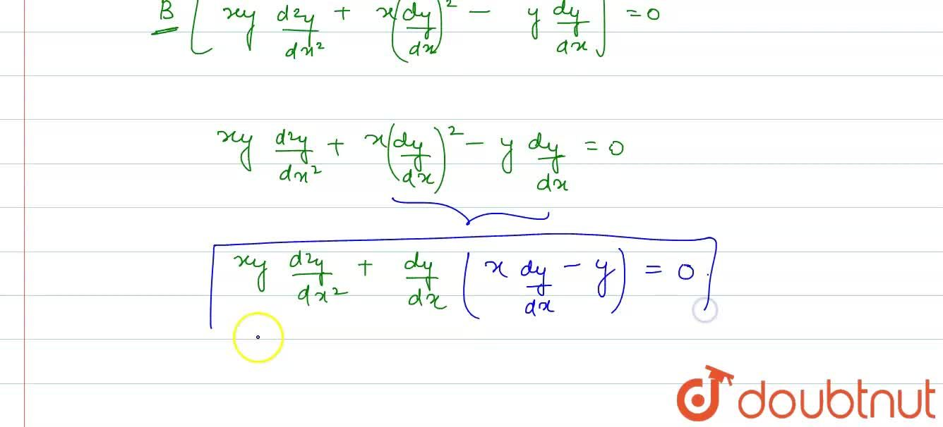 Solution for Let F be the family of ellipse whose centre is the
