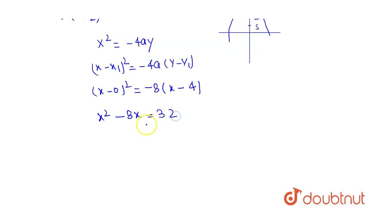 Solution for If (0, 3) and (0, 2) are respectively the vertex a