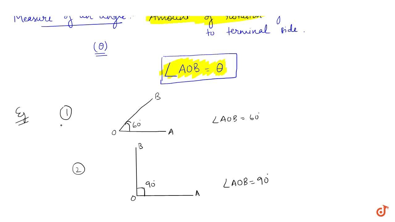Solution for Measure of an Angle