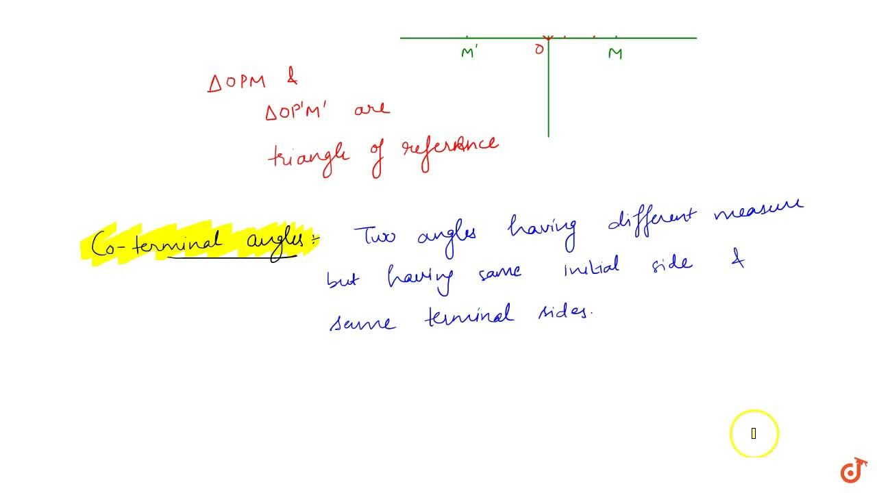 Solution for Explain Quadrants ; Angle in standard position ; A