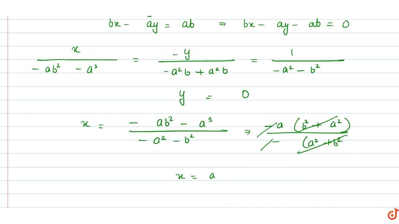 Solution for Solution of the following pair of linear equations