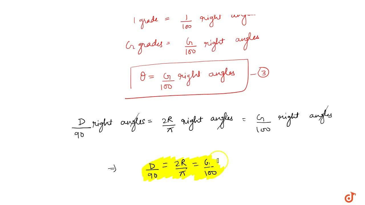 Solution for Relation between three system of measurement :: Re