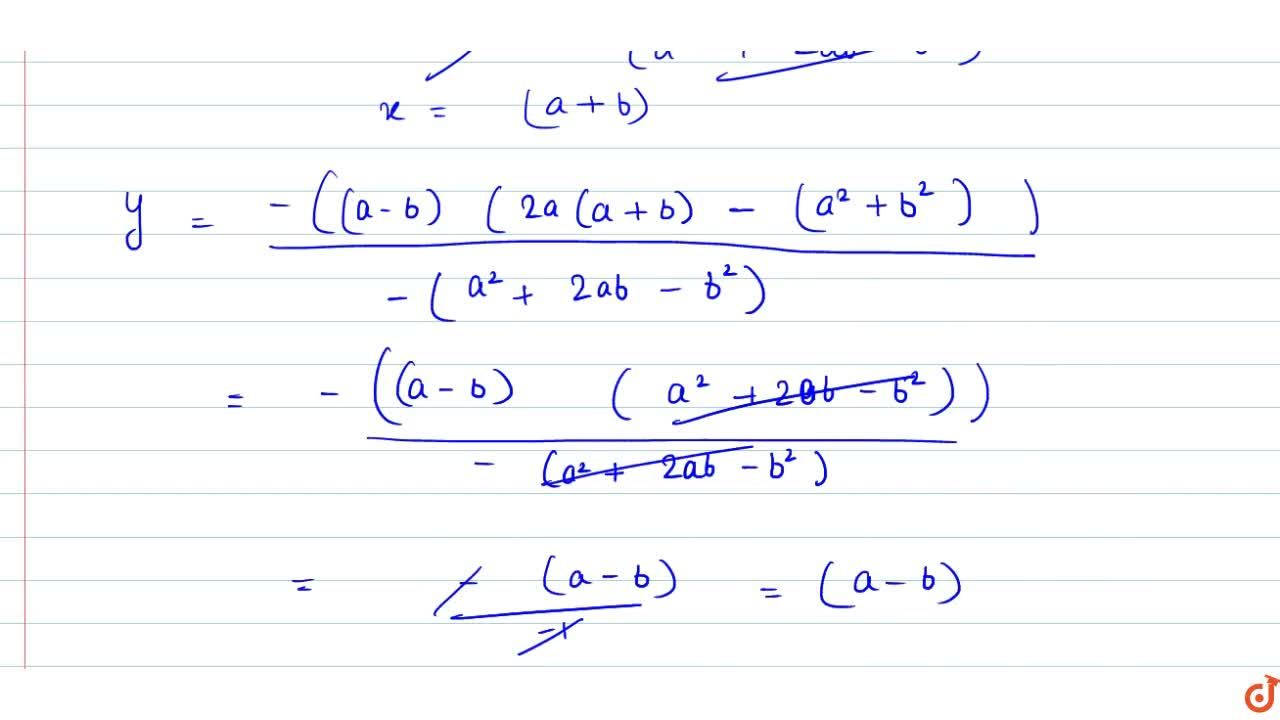 Solution for Solve the following pair of linear equations by cr
