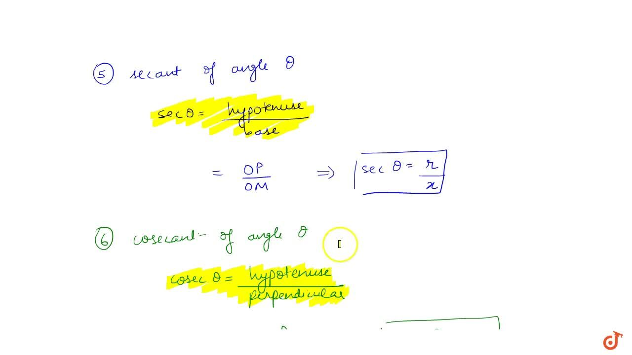 Solution for Explain Trignometric Ratios or Function with graph