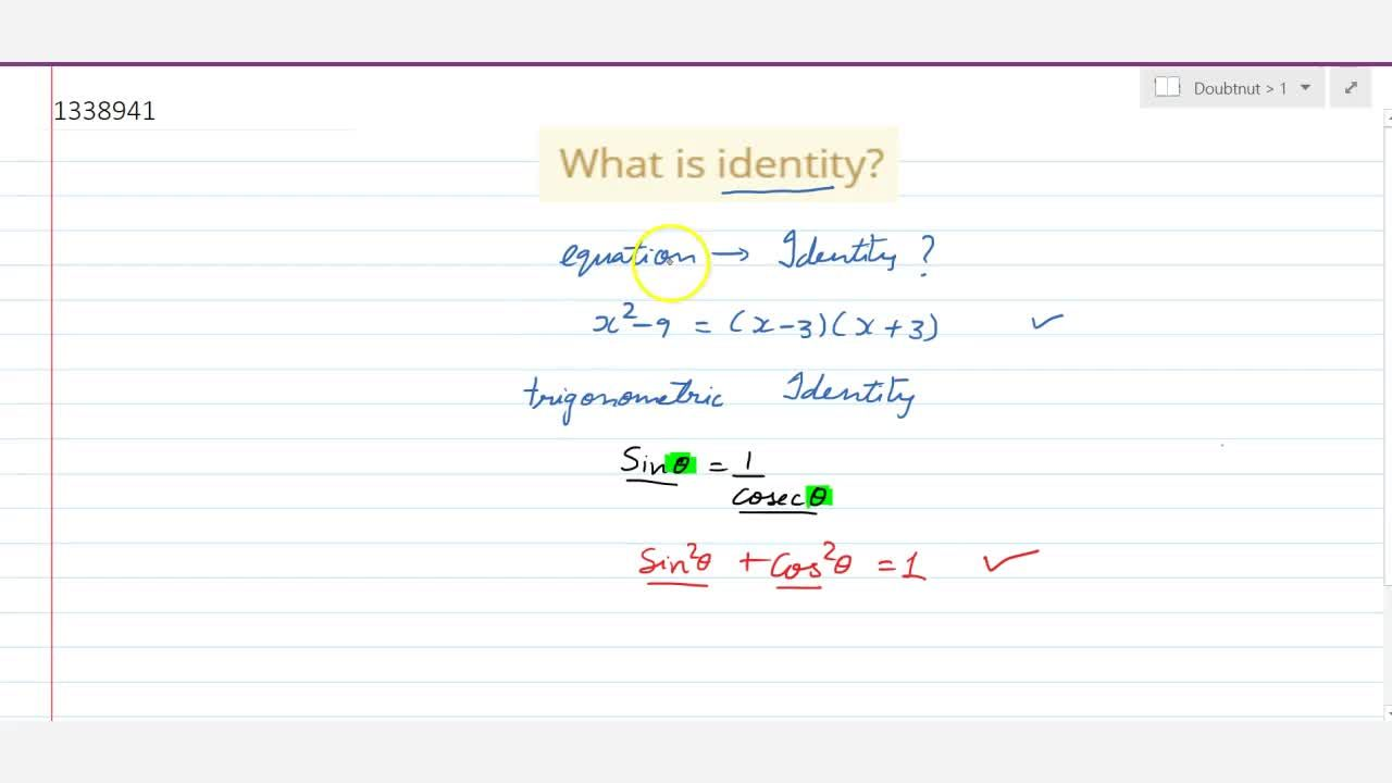 Solution for What is identity?