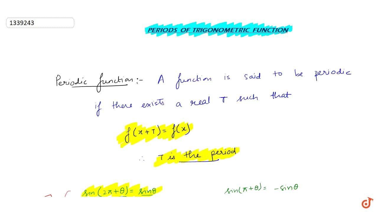 Solution for Periods of trigonometric function
