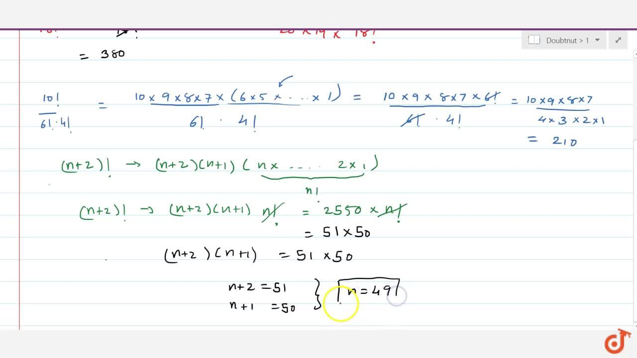 Solution for (a)Compute (i) (20!),(18!) (ii) (10!),(6!.4!)